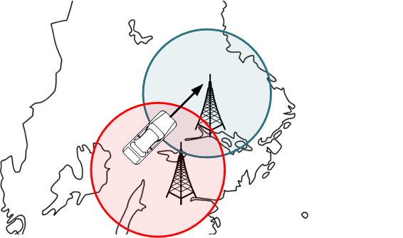 2 stycken FM radiosändare på lagom avstånd med lagom mycket överlapp